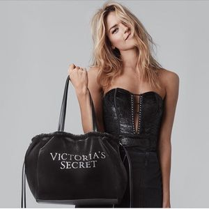 Victoria's Secret Luxe Velvet Tote 2018 Velour Bag